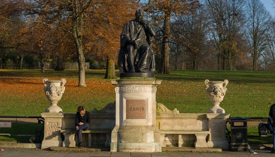 Edward-Jenner Statue im Hyde Park in London